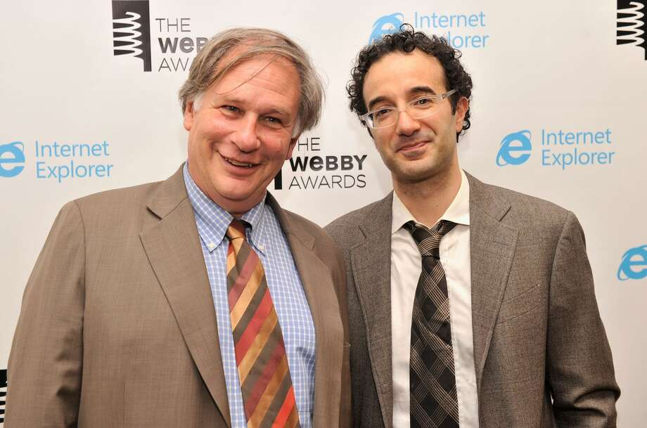 Robert Krulwich and Jad Abumrad in 2013. Krulwich announced in an email to listeners that he would soon be leaving Radiolab. Photo: Stephen Lovekin