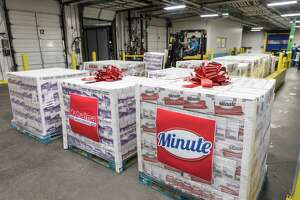 On Tuesday, Dec. 3, Riviana Foods trucks in 150,000 servings of rice from distribution centers from as far away as Chicago to help replenish the Houston Food Bank, which had to throw away roughly 2 million pounds of food in November due to an ammonia leak.