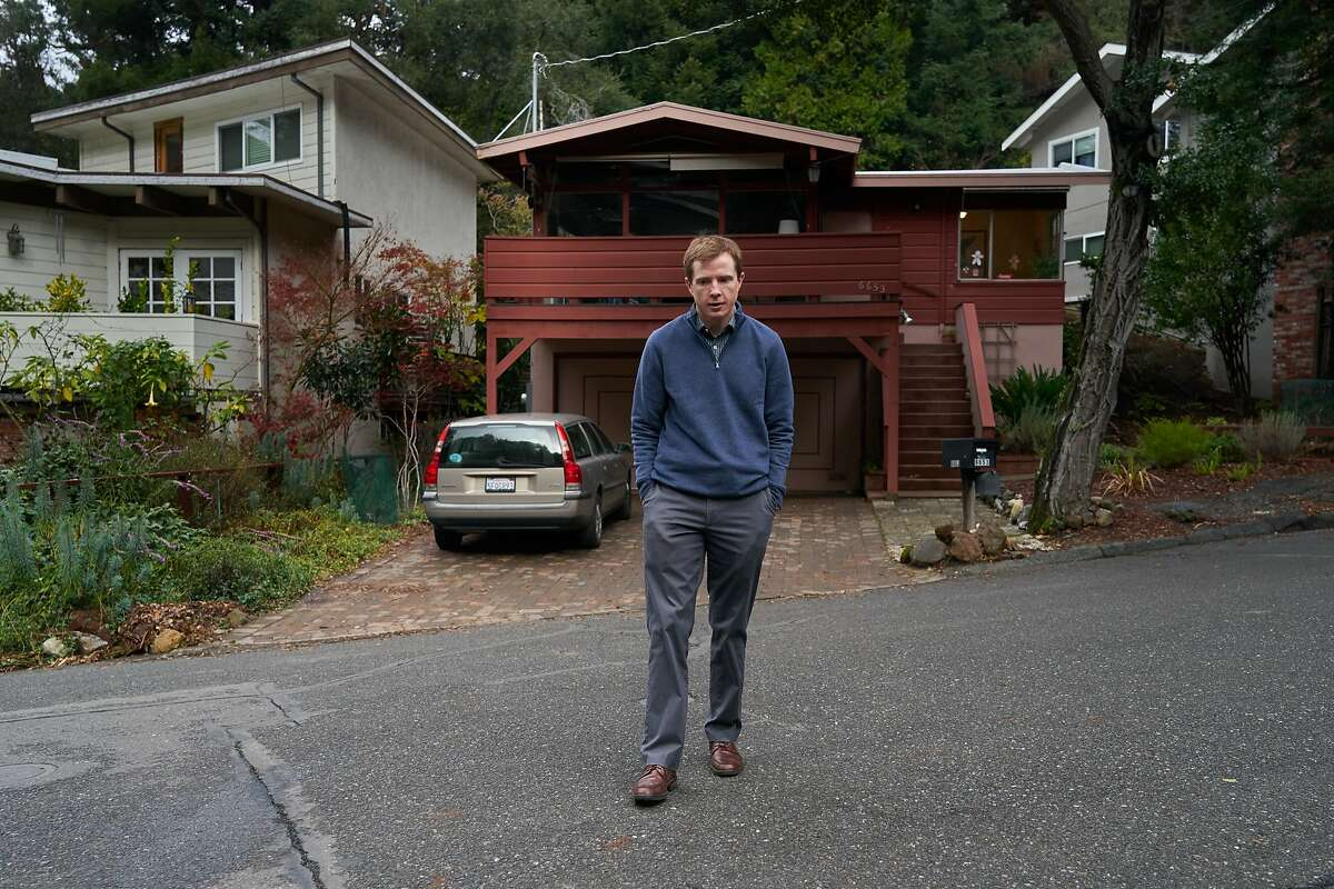 Sean Coffey at his home on Thursday, Dec. 5, 2019, in Oakland, Calif.