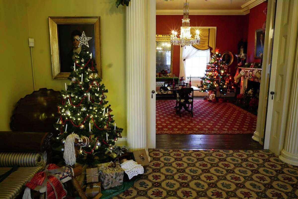 A view of one of the decorated rooms seen at the first look event hosted by the Albany County Historical Association at Ten Broeck Mansion on Sunday, Dec. 1, 2019, in Albany, N.Y. Area garden clubs and volunteer groups each decorated a room inside the mansion for the holidays. December 5th and 6th the mansion will hold their candle light tours, and on December 7th the Madrigals event is held at the mansion. On December 14th the Holiday Tea is held and on December 21st the Children's Story Hour and Art Project will be held. (Paul Buckowski/Times Union)