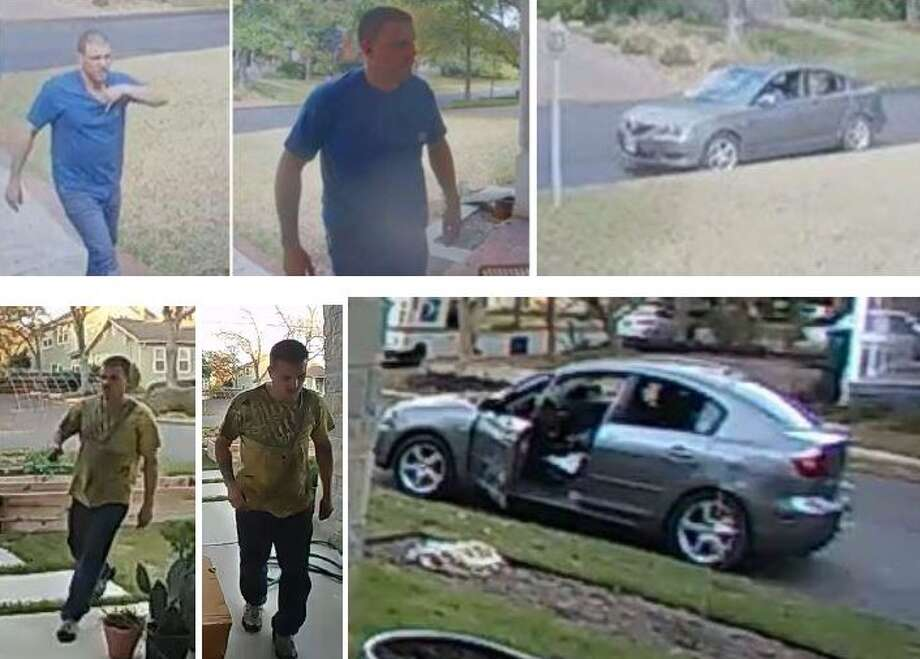 Alamo Heights police are searching for a suspect involved in swiping packages off porches on two occasions. Photo: Alamo Heights Police Department