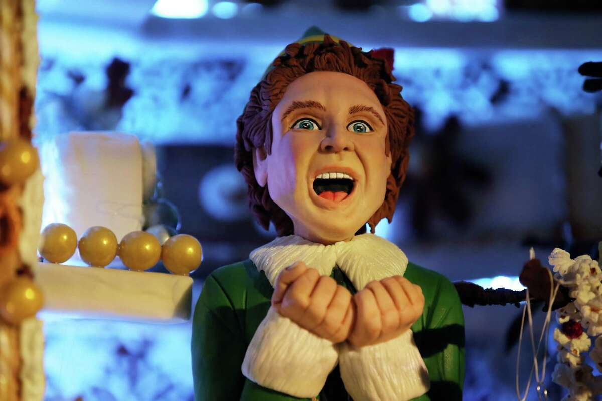 The 27th annual Gingerbread Village is on display at the Sheraton Grand Seattle until Jan. 1, 2020. This year's village is themed Elves with each of the five elaborate gingerbread structures choosing a different elf motif.