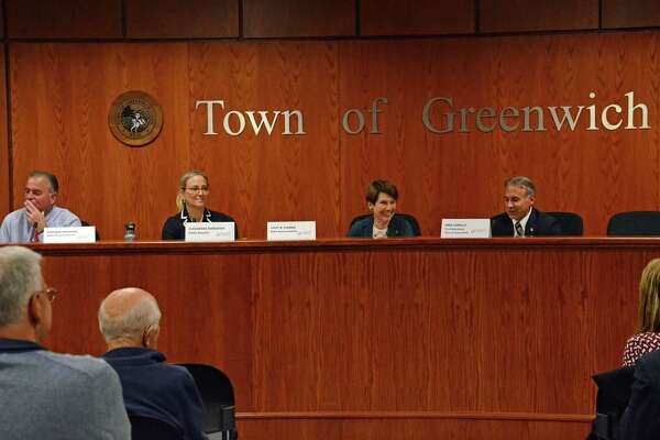 Local lawmakers discuss the future of social welfare in Greenwich at Town Hall on Thursday morning.