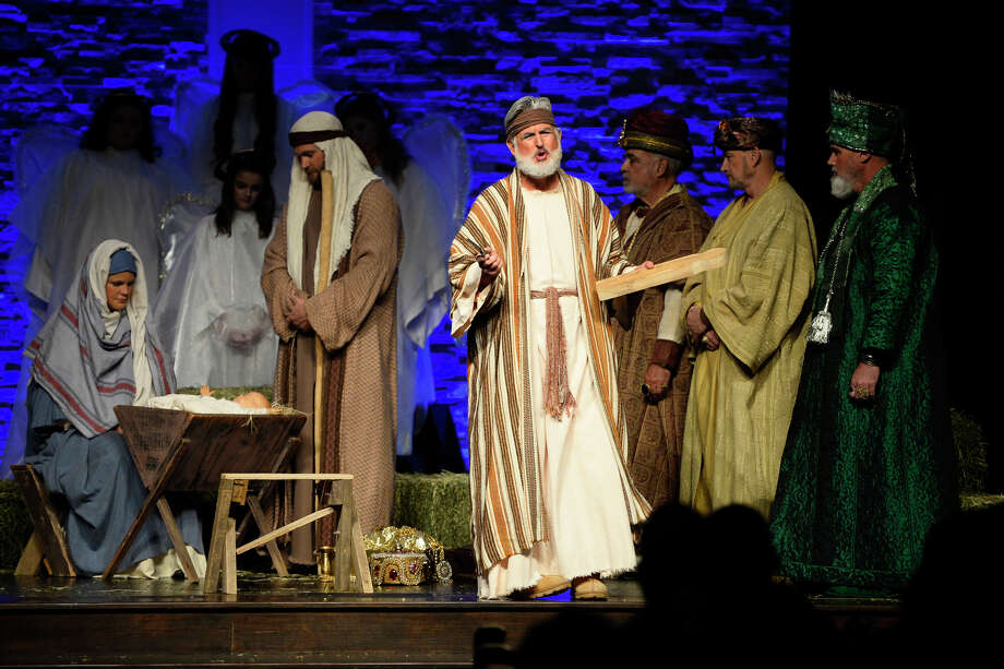"The First Baptist Church of Midland will host ""The Gift"" on Sunday and Dec. 15. The living Nativity event will be presented two ways -- one as a dramatization, the other as a musical presentation. Photo: James Durbin / © 2018 Midland Reporter-Telegram. All Rights Reserved."