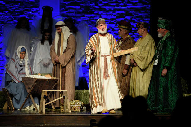 "The First Baptist Church of Midland will host ""The Gift"" on Sunday and Dec. 15. The living Nativity event will be presented two ways -- one as a dramatization, the other as a musical presentation."