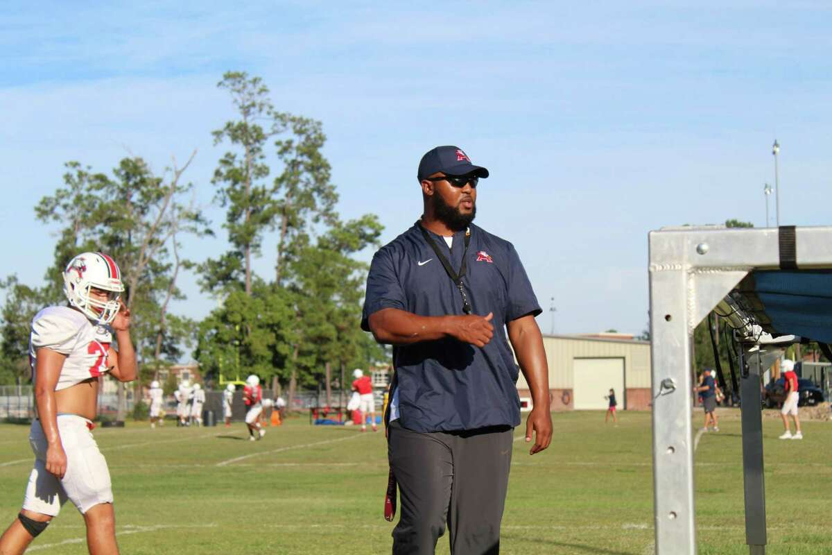 Atascocita defensive coordinator Jacody Coleman had dreams of playing in the NFL, but were cut short due to a Lisfranc injury on his right foot.