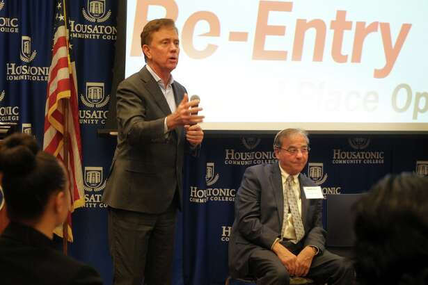 Governor Ned Lamont speaks during press conference announcing the Platform to Employment program, hosted by The WorkPlace, at Housatonic Community College, in Bridgeport, Conn. Dec. 5, 2019.