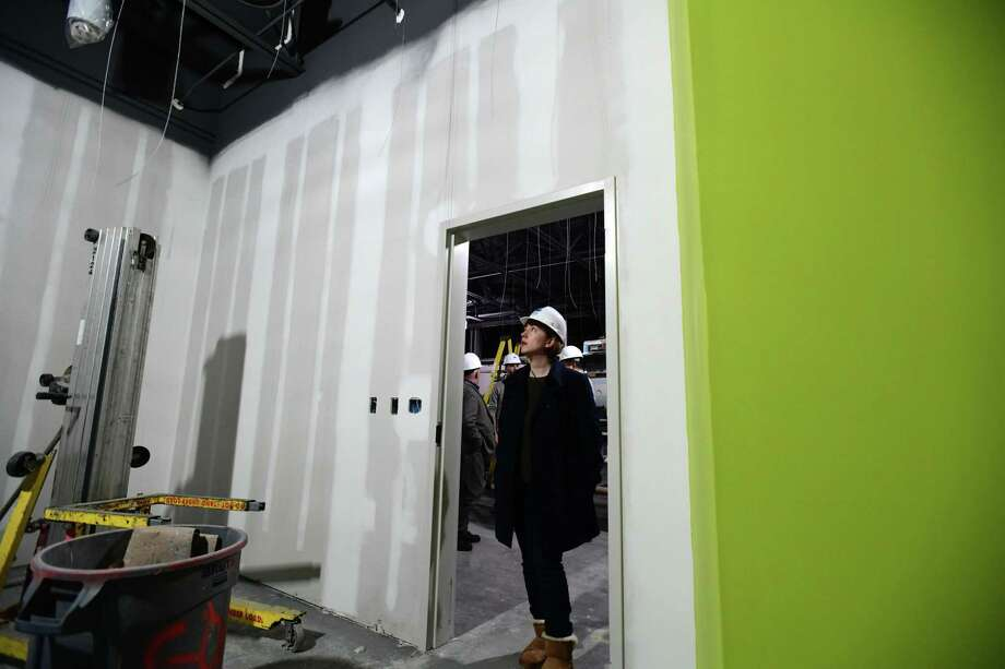 New Board of Education Chair Sarah Lemieux and members of the Common Council Land Use and Building Management Committee and the Norwalk Facilities Construction Committee get a tour of the new construction at Ponus Ridge Middle School Wednesday, December 4, 2019, in Norwalk, Conn. The construction is part of the Board of Education's long-term facilities plan. Photo: Erik Trautmann / Hearst Connecticut Media / Norwalk Hour