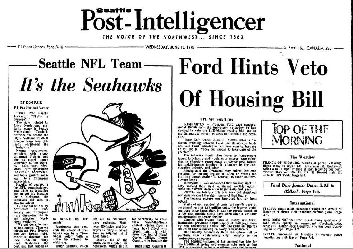 In the June 18, 1975 edition of the Seattle Post-Intelligencer, the name