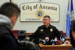 Ansonia Police Department's Lt. Patrick Lynch updates the media on a homicide of a woman of missing one-year-old child, Venessa Morales, during a press conference held at Ansonia City Hall in Ansonia, Conn., on Thursday Dec. 5, 2019.