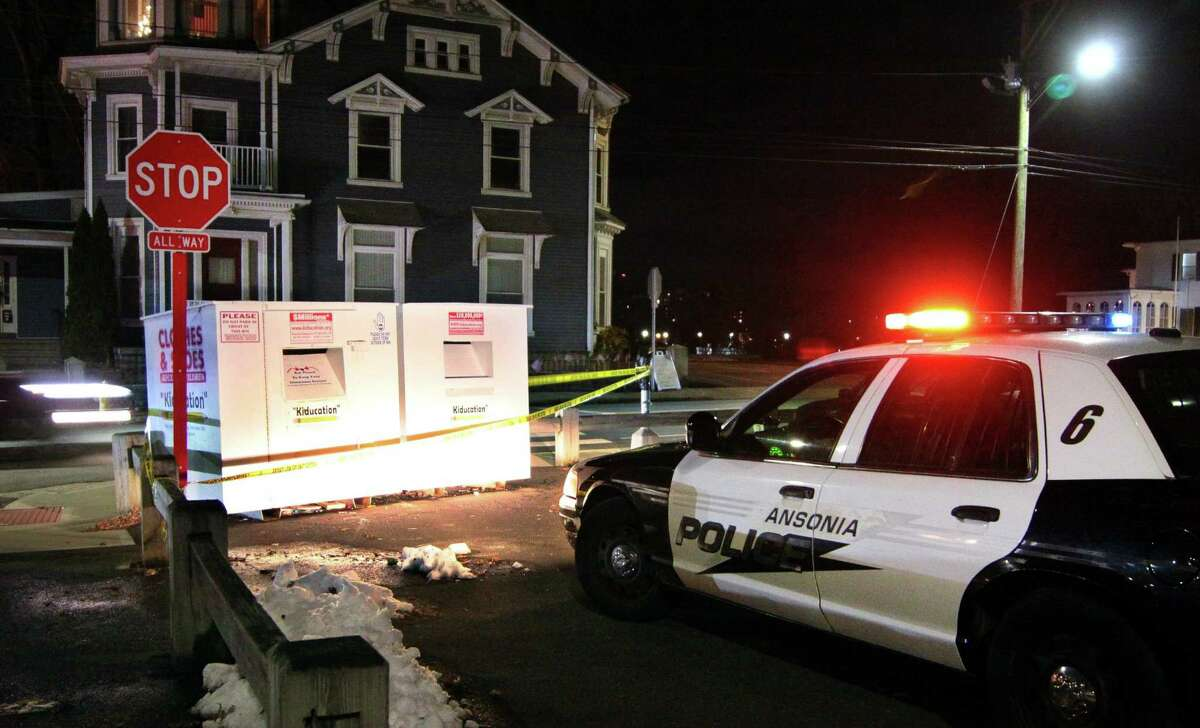 An Ansonia police vehicle on site at a set of Kiducation donation boxes sealed off with crime scene tape along Derby Avenue in Derby, Conn., on Thursday Dec. 5, 2019. Similar boxes in Hamden were being searched in relation to the case. Ansonia police are currently searcing for one-year-old missing toddler Venessa Morales after her mother's body was found at their home on Myrtle Avenue earlier in the week.