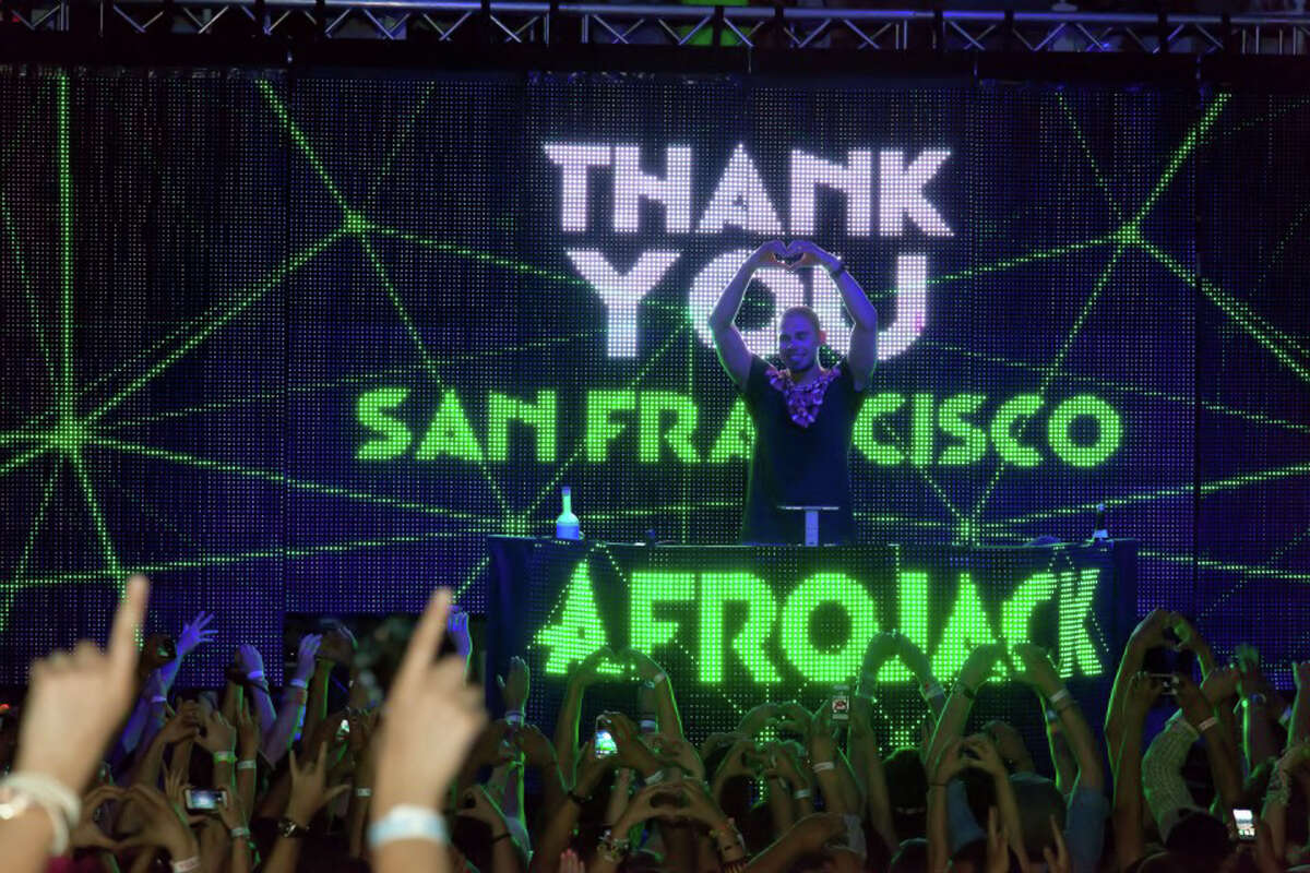 Renowned DJ, Afrojack, performs at City Nights at 715 Harrison Streetin San Francisco. The long-running club is applying for Legacy Business status after 34 years in business.