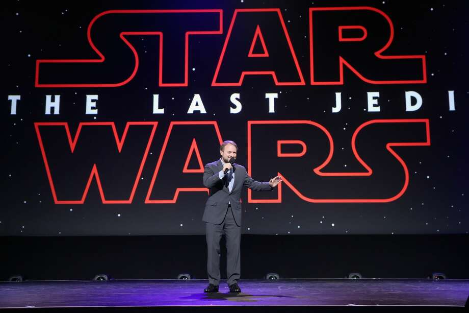 Director Rian Johnson of STAR WARS: THE LAST JEDI took part today in the Walt Disney Studios live action presentation at Disney's D23 EXPO 2017 in Anaheim, Calif. Photo: Jesse Grant/Getty Images For Disney