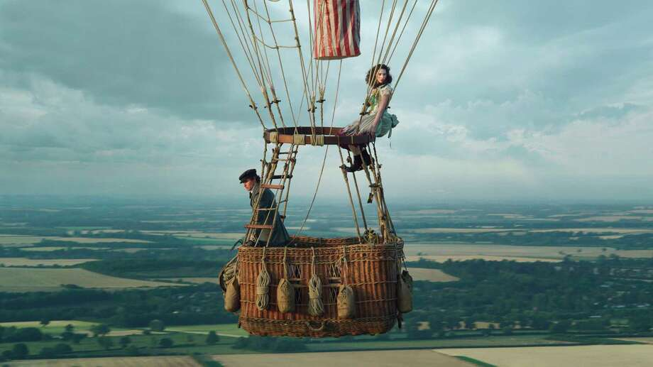 "This image released by Amazon Studios shows Eddie Redmayne, left, and Felicity Jones in ""The Aeronauts."" (Amazon Studios via AP) / Courtesy of Amazon Studios"
