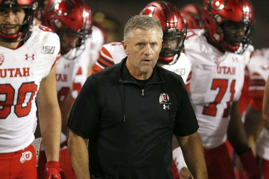 Kyle Whittingham's Utah team has won eight straight games with seven of those victories coming by at least 18 points. Photo: Rick Scuteri / Associated Press