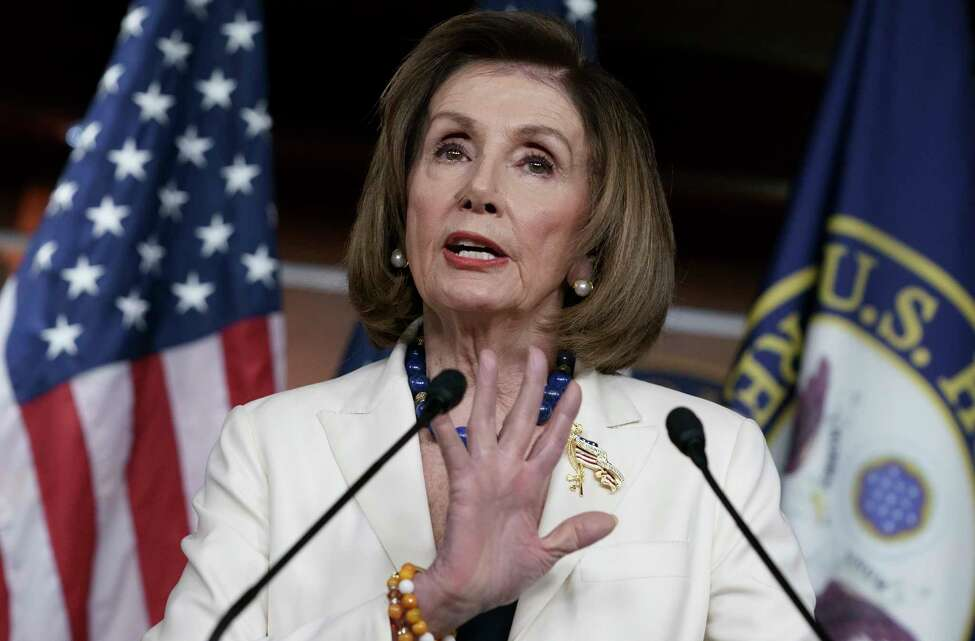 Speaker of the House Nancy Pelosi, D-Calif., meets with reporters during her weekly news conference at the Capitol in Washington, Thursday, Dec. 5, 2019. (AP Photo/J. Scott Applewhite)