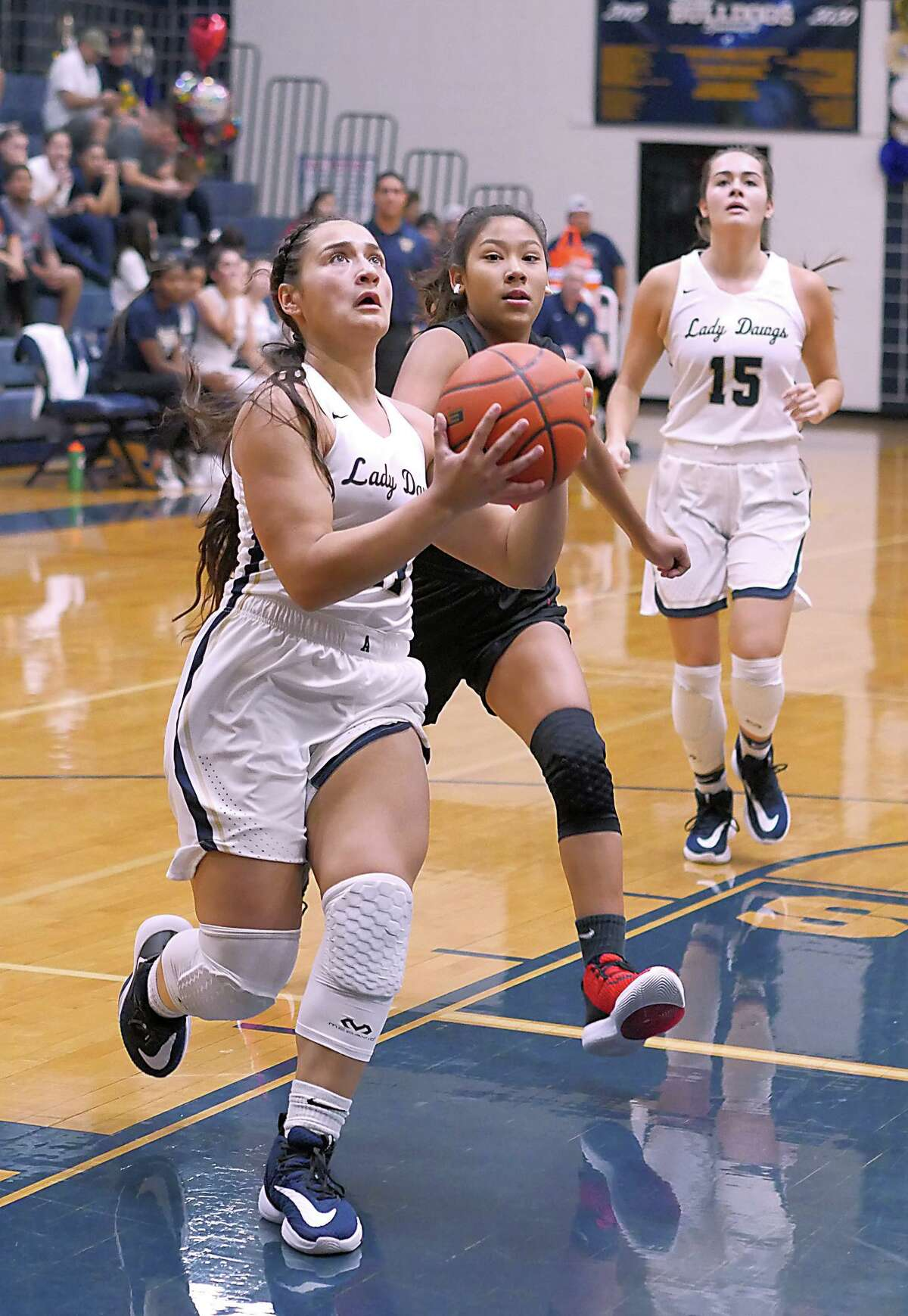 Kayla Herrera ranked second in the city averaging 13.6 points per game in her first varsity season at Alexander.