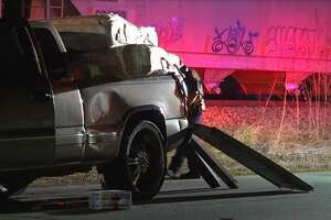Two people were airlifted to the hospital after a Honda struck a Chevy truck late Thursday.