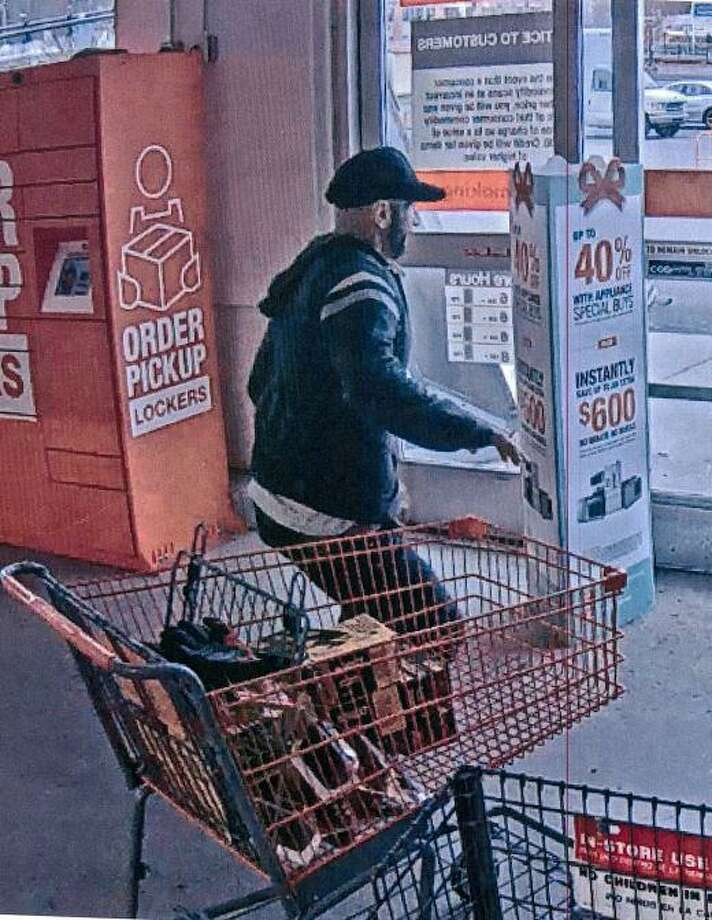 Hamden police are looking to identify a man who allegedly tried to take roughly $900 worth of power tools and accessories from Home Depot. Photo: Hamden Police Department