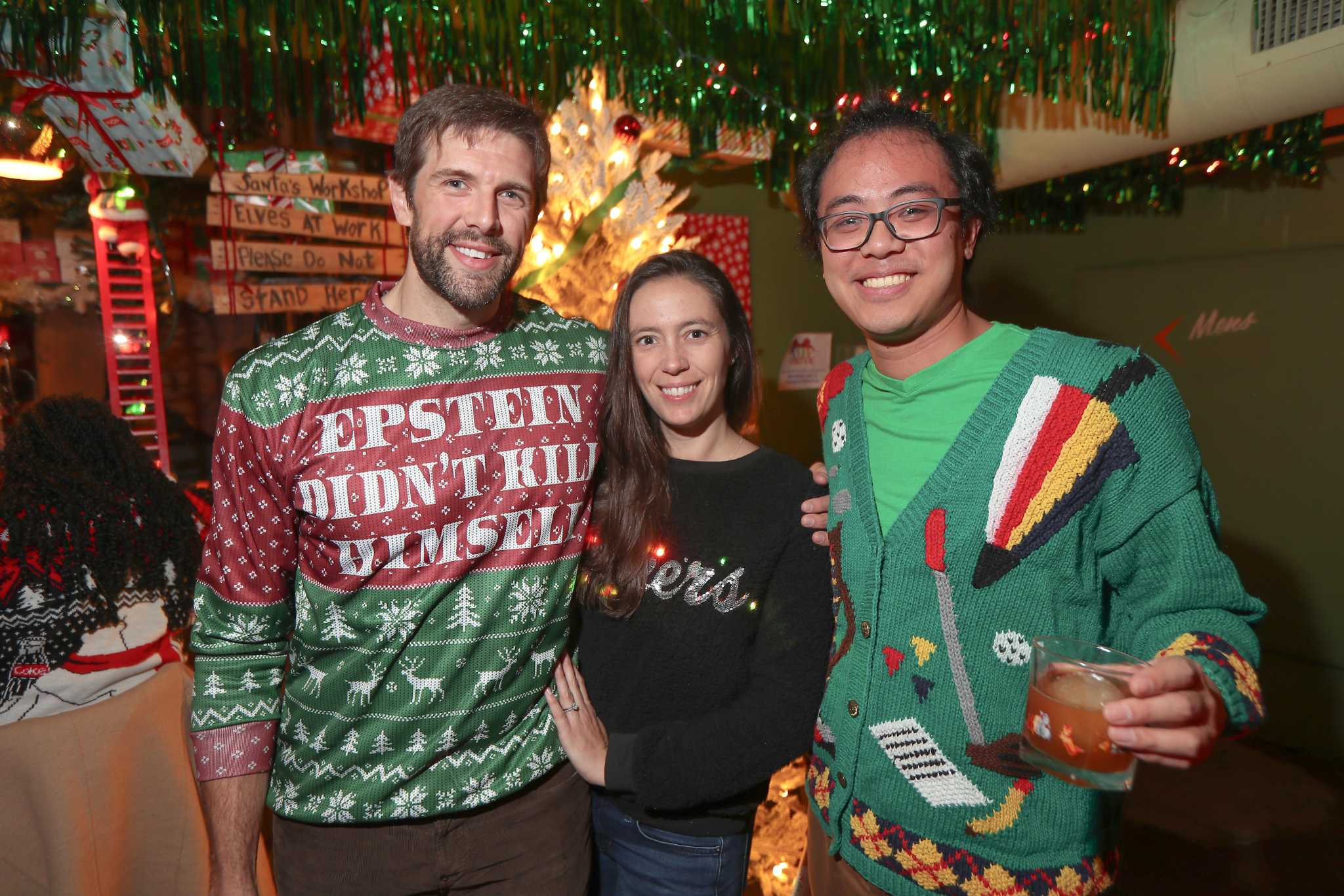 Ugly Christmas Sweaters And Going Viral A Night Out In Houston Houstonchronicle Com Find funny gifs, cute gifs, reaction gifs and more. https www houstonchronicle com life article ugly christmas sweaters and going viral a night 14886931 php