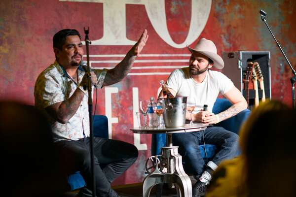 Chef Aaron Sanchez celebrates his book release with Shakey Graves at 40 Below in downtown Houston on Thursday, Dec 5, 2019