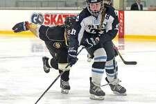 Meghan Lane was a second-team All-FCIAC pick for the Wilton girls hockey team last season.