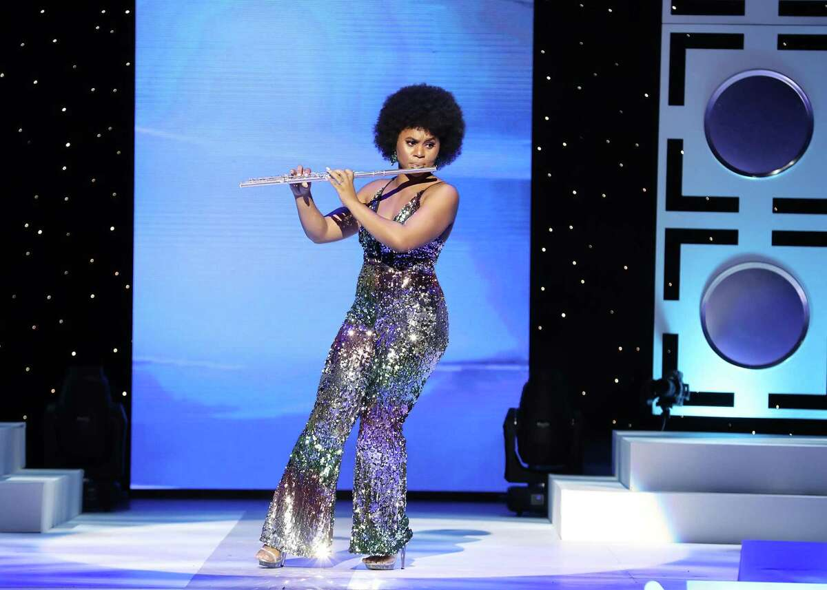 Miss Texas and Pearland resident Chandler Foreman, 23, plays a medley of Diana Ross hits,