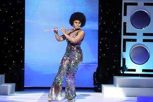 """Miss Texas and Pearland resident Chandler Foreman, 23, plays a medley of Diana Ross hits, """"Theme from 'Mahogany'"""" and """"Ain't No Mountain High Enough,"""" on the flute. She is in the Miss America pageant, televised tonight."""
