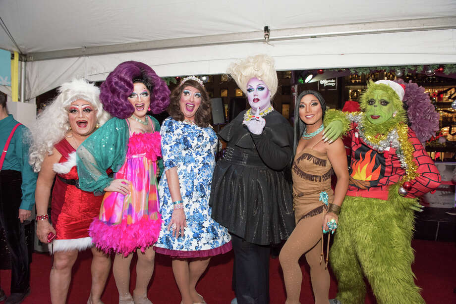 Drag Queens on Ice was as popular as ever this year at the the Holiday Ice Rink in Union Square. Photo: Blair Heagerty / SFGate