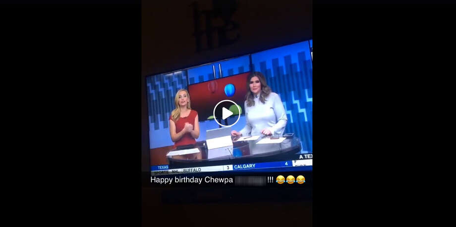 "Fox 29's ""Fox News First"" started Friday morning headlines with some birthday greetings that quickly took a wrong turn. Photo: Facebook Screen Grab"