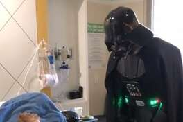 Ezra Menke of Tomball was recovering from his fourth brain surgery when he received the ultimate surprise from Darth Vader and some stormtroopers.