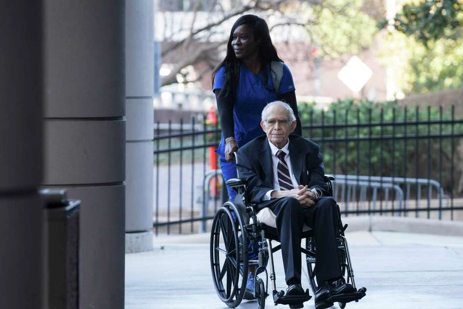 James Dannenbaum arrives to the Bob Casey United States Courthouse to appear in court on allegations of election fraud on Friday, Dec. 6, 2019, in Houston. Dannenbaum, a former University of Texas regent and ex-CEO of an influential engineering firm, pleaded guilty to campaign finance fraud.