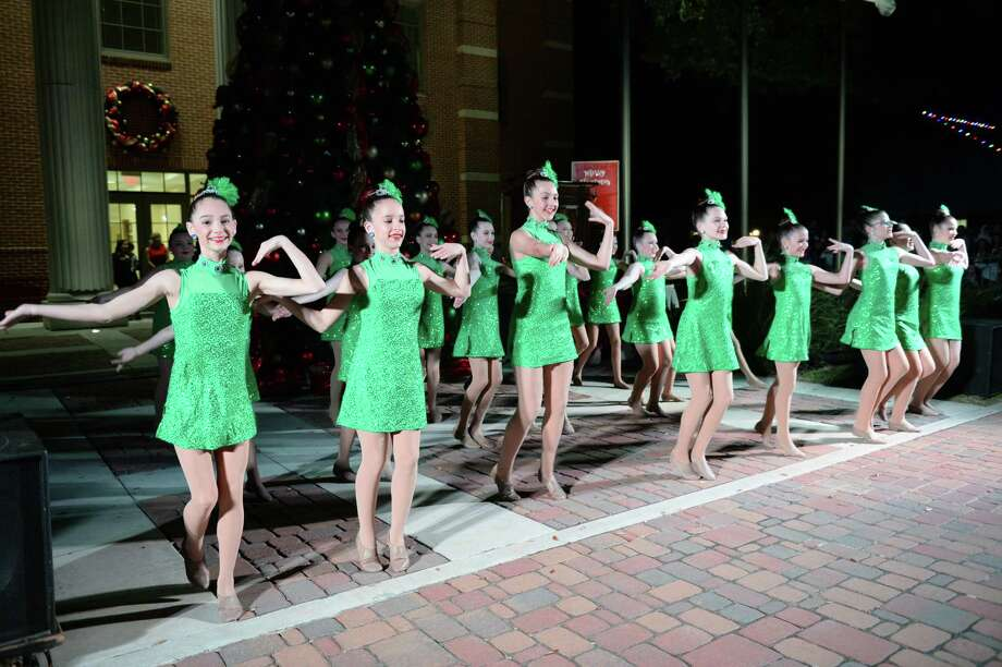 Students from the Juleigh Holley School of Dance perform during the annual Christmas Tree Lighting in Historic  Katy, TX on Thursday, December 5, 2019. Photo: Craig Moseley, Staff Photographer / ©2019 Houston Chronicle