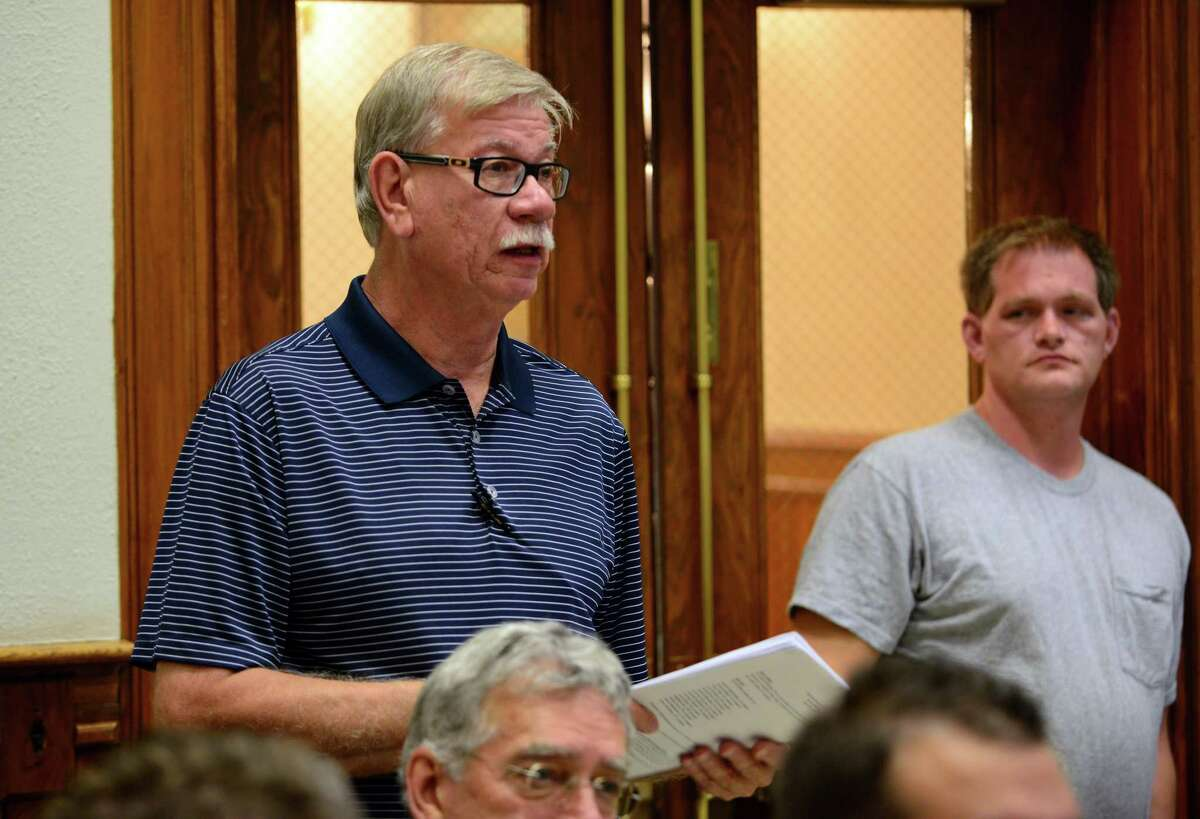 Novak at an Ansonia Board of Aldermen meeting in 2015, during his time as the city's public works director.