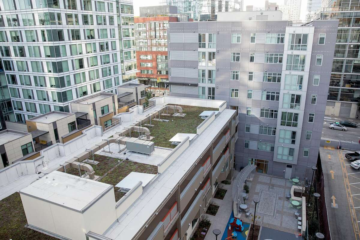 The Natalie Gubb Commons is seen in the South of Market district of San Francisco, Calif. Thursday, Nov. 21, 2019.