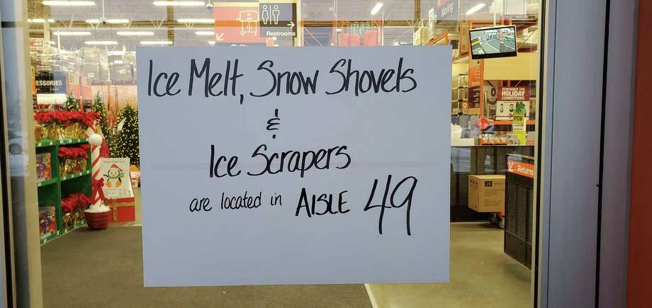 A handwritten sign at a Home Depot helps direct customers and also makes life easier for staff. Photo: Cornell Wright