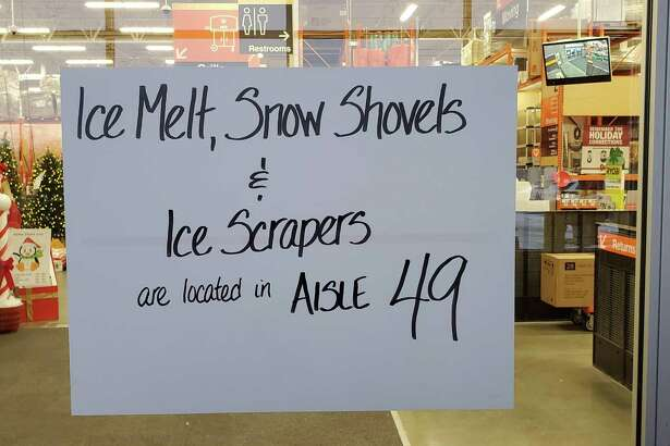 A handwritten sign at a Home Depot helps direct customers and also makes life easier for staff.