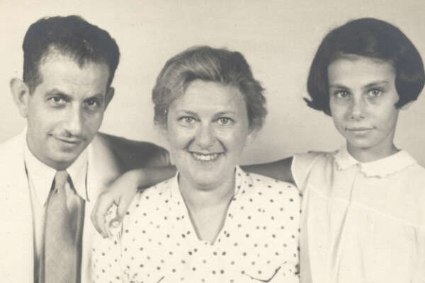 Family historian Alex Calzareth used the U.S. Citizenship and Immigration Services files to track the movements of his great-grandparents, Felix and Grete Rafael (shown here with their daughter) from the Czech Republic to New York around World War II. The records also unraveled a family mystery.