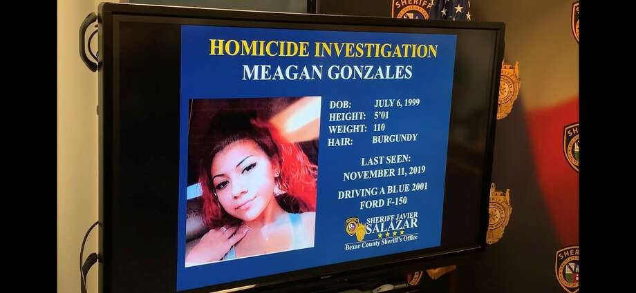 Bexar County Sheriff Javier Salazar identified the body found Tuesday in Southwest Bexar County as Meagan Gonzales, 20, who had been missing since mid-November. Photo: Mark Dunphy