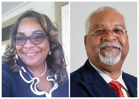 Retired postal manager Kathy Blueford-Daniels, left, and Houston city council aide John Gibbs, right, face each other in the Houston ISD District II runoff election. Blueford-Daniels earned 43 percent of the vote the general election, while Gibbs received 22 percent. They are running to replace incumbent Rhonda Skillern-Jones, who is not seeking re-election.