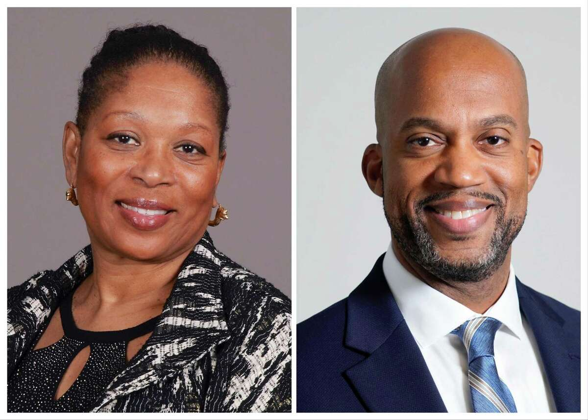 Retired Houston ISD principal Patricia Allen, left, faces management consultant Matt Barnes, right, in the HISD District IV runoff election. Allen earned 31 percent of the vote in the four-candidate general election, while Barnes earned 30 percent. They are running to replace incumbent Jolanda Jones, who is not seeking re-election.