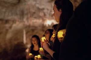 From 180 feet below ground, local choirs and singing groups will make beautiful Christmas music during Natural Bridge Caverns' 2019 Christmas in the Caverns celebration.