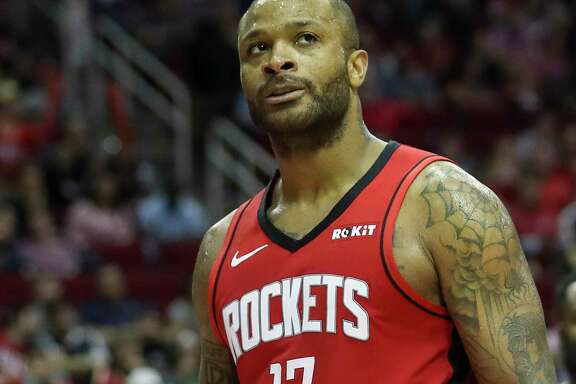 Rockets forward P.J. Tucker is averaging a career-high 10.1 points per game and shooting a career-best 53.1 percent.