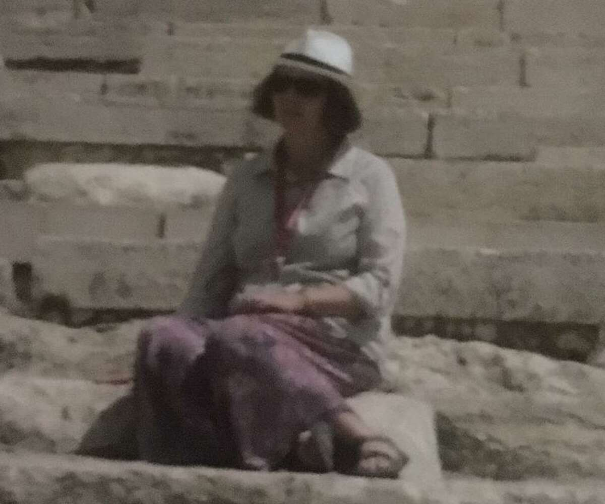 Regina Dowling on a recent trip to the Holy Land.