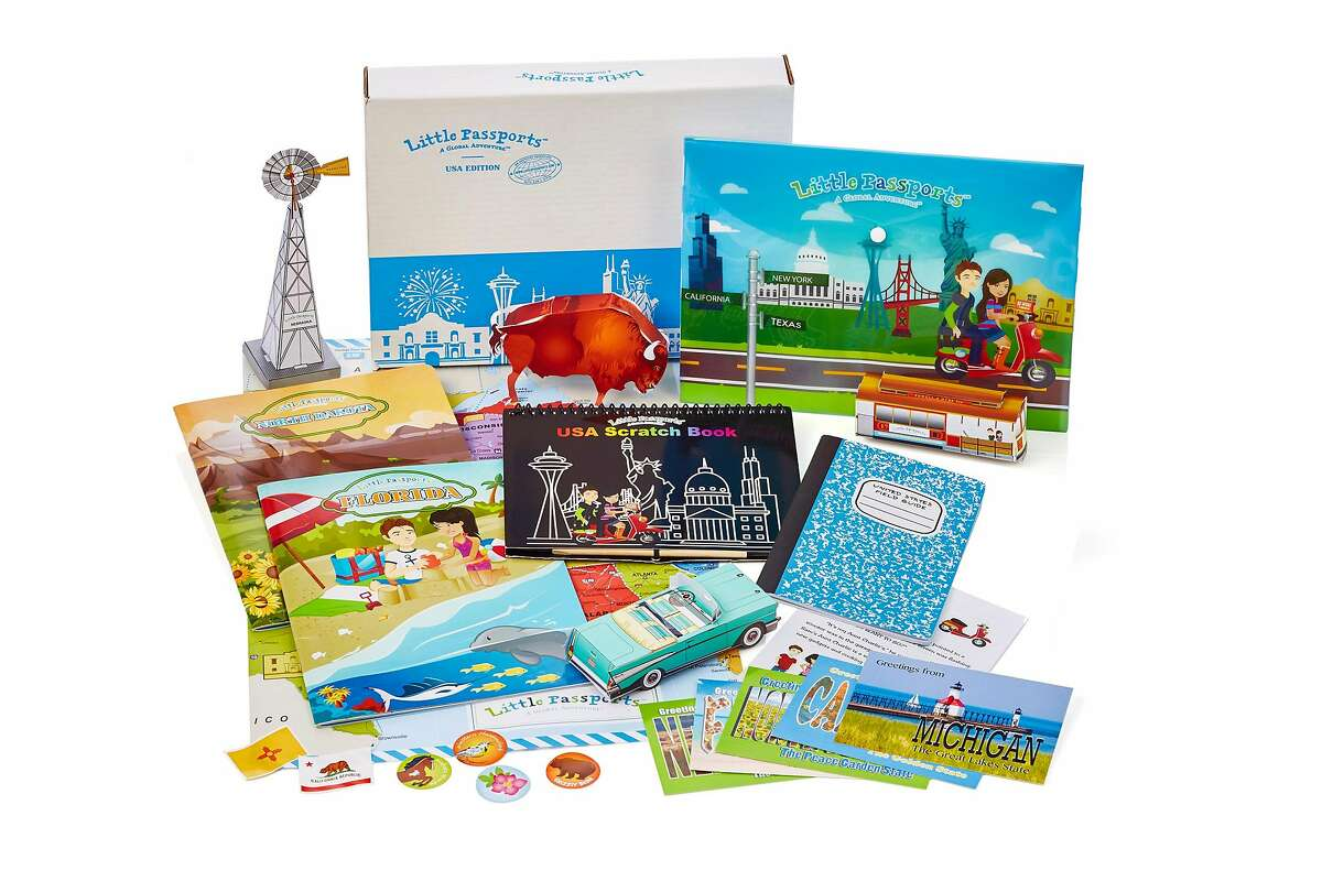 One of the most popular children's subscription boxes: activity kits from San Francisco's Little Passports.