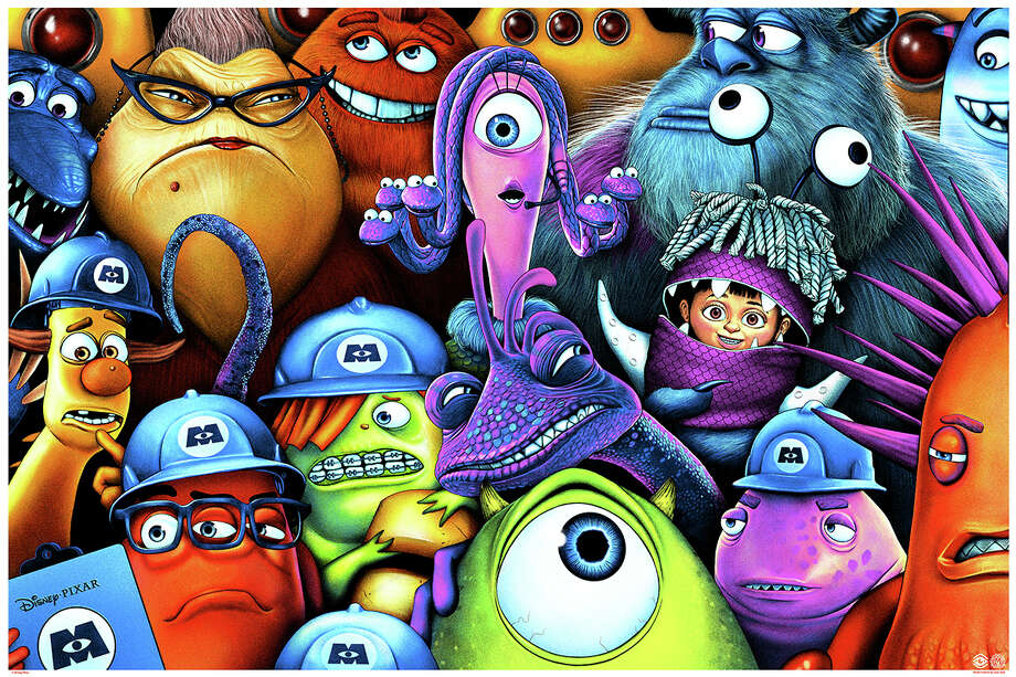 """Monsters Inc."" poster by Sara Deck. Photo: Mondo"