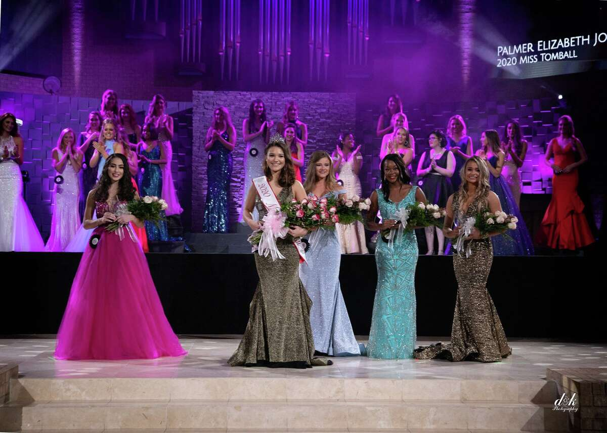 Palmer Jones, Miss Tomball 2020, and other contestants during the pageant.