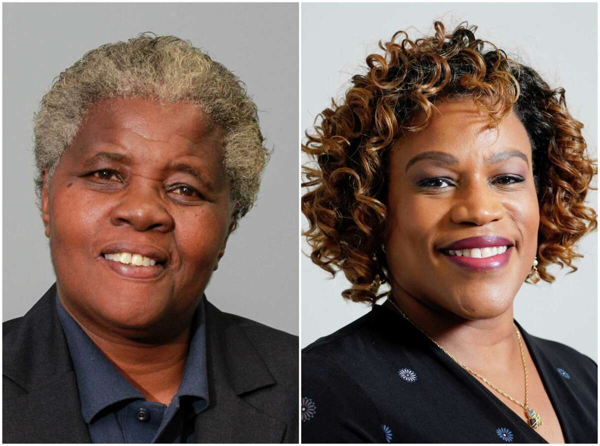 Cynthia Bailey, left, and Tarsha Jackson, right, are candidates for the District B seat on Houston City Council.