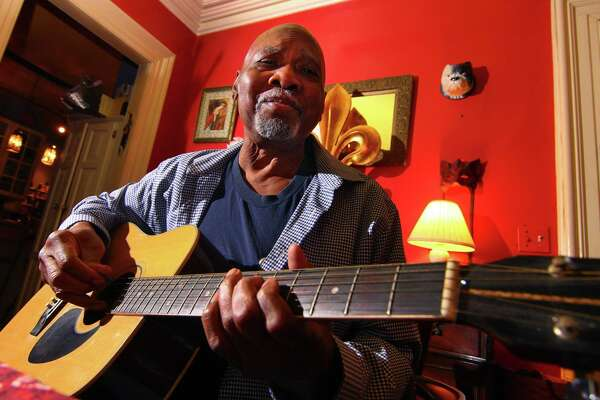 Musician George Baker poses at his friend's home in New Haven, Conn., on Friday Dec. 21, 2018. Baker, 80, who is battling cancer, has had a long career in music including working with Marvin Gaye.