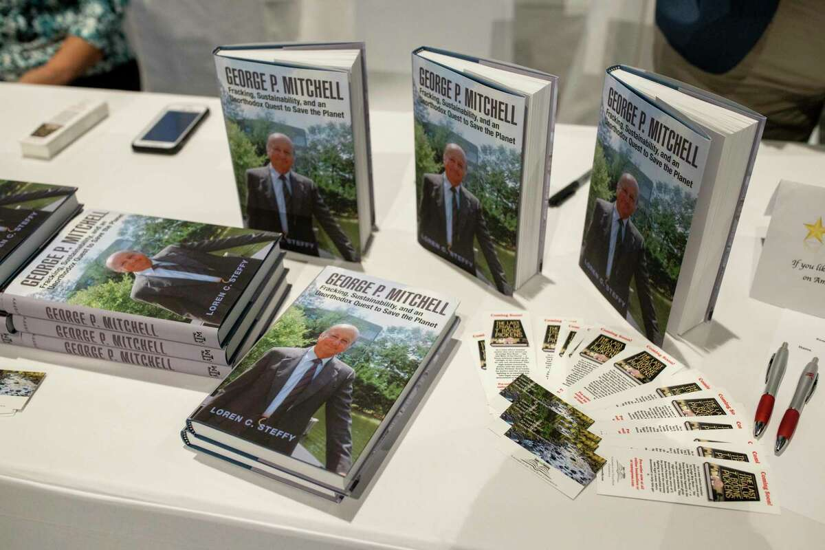 Loren Steffy, Author of George P. Mitchell: Fracking, Sustainability, and an Unorthodox Quest to Save the Planet attends the annual author event hosted by The John Cooper School, Friday, Dec. 6.